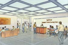 Architectural renderings of the Sandi Port Errant Language and Culture Learning Center