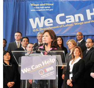 U.S. Secretary of Labor Hilda Solis  at UIC