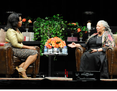 Oprah Winfrey interviews Toni Morrison at the UIC Forum