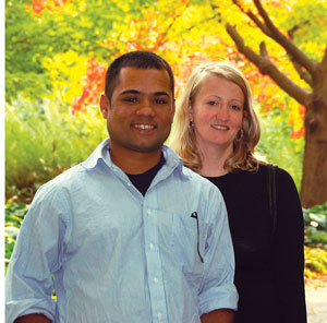 Kevin Desouza and his wife, Sally