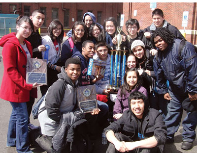 UIC College Prep Mathletes after the citywide finals
