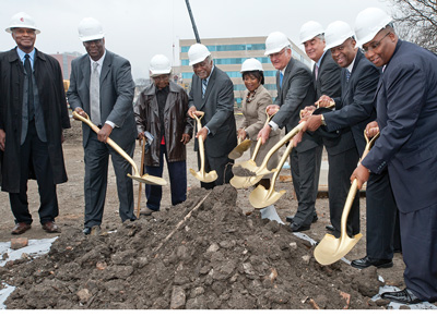 breaking ground for Mile Square Health Center