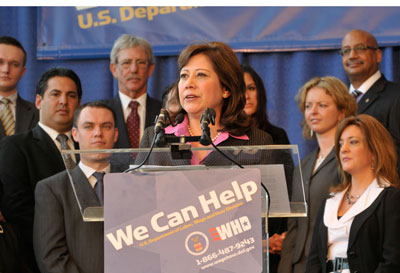 U.S. Secretary of Labor Hilda Solis at UIC today
