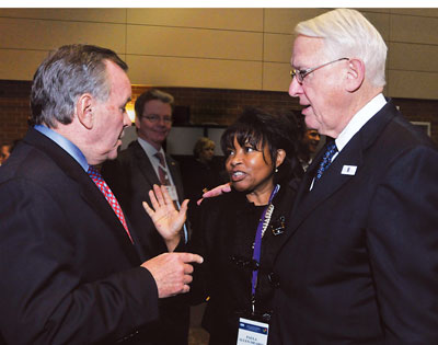 Mayor Richard M. Daley, Chancellor Paula Allen-Meares, Interim President Stanley Ikenberry